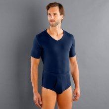"Blancheporte Spodní tričko s výstřihem do ""V"", sada 3 ks nám. modrá"