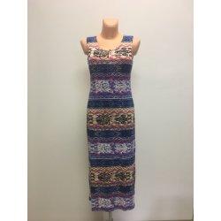 Dámské letní volnočasové šaty dlouhé světlé barevná bb78aa21c1