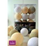 Ball-de-sign WHITE COFFEE cotton balls Počet ks v balení: 10 ks