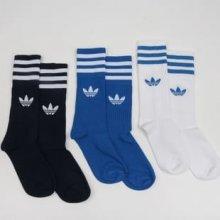 Adidas Originals Solid ponožky Crew - 3 balení