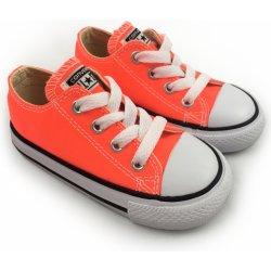 ef34aadba00 Converse All Star Chuck Taylor dětské nízké tenisky neonové oranžové ...