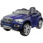 Elcars elektrické autíčko BMW X6 Luxury modrý 2 motory R/C 24GHz EVA kola