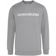 Calvin Klein Jeans Institute Logo Crew Sweater Grey Heather