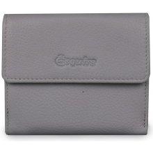 Esquire Malá dámská kožená peněženka světle šedá