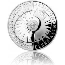 Česká mincovna Stříbrná mince 200 Kč 2017 Založení České astronomické společnosti proof 13 g