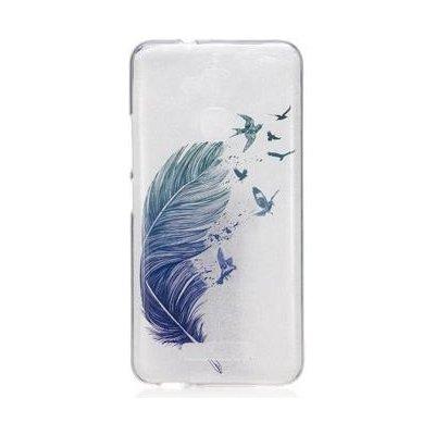 Pouzdro Softy gelové Asus Zenfone 3 Max ZC520TL - ptačí peříčka