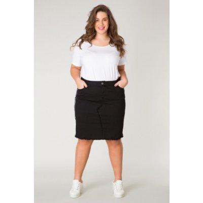 Yesta džínsová sukně ke kolenům Golddy černá
