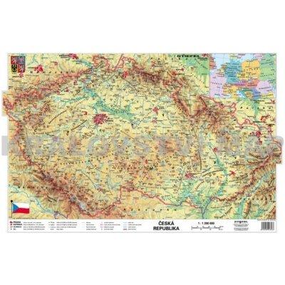 Cr Obecne Geograficka Oboustranna Nastenna Mapa 160x120 Cm