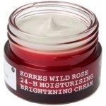Korres 24 hodinový hydratační a rozjasňující krém s divokou růží pro smíšenou pleť 40 ml