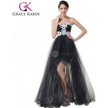GRACE KARIN® Sexy společenské šaty s krajkou CL6191 Černá