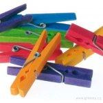 Grimm's dřevěné kolíčky v barvách duhy