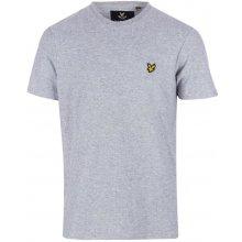 Lyle and Scott Mens Rain Jacquard T Shirt Light Grey