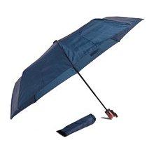 Jednobarevný skládací deštník Lejla tmavě modrý