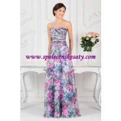 0a2a74ccf79f Barevné dlouhé hedvábné plesové společenské letní květinové šaty ...