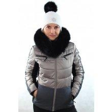 Icepeak dámská zimní bunda Cathy I 53205 080 béžová s kožešinovým lemem