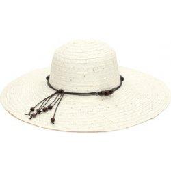 Art of Polo Dámský letní klobouk s korálky bílý cz16115.1 ... 5d4b024860