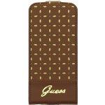 Pouzdro Guess Gianina Flip iPhone 5/5S Cognac