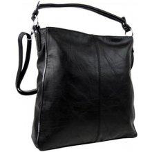 Moderní dámská kombinovaná kabelka se stříbrnou linkou 3067-DE černá