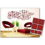 Dimex ST1 020 Samolepicí dekorace na zeď Červené čtverce Red Squares, rozměry 50 x 70 cm