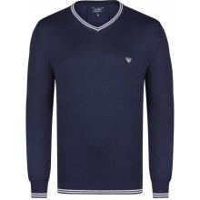 Armani Jeans elegantní svetr od Tmavě modro-bílý