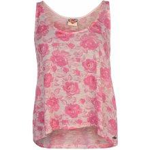 Lee Cooper AOP Swing Vest Ladies Pink Rose