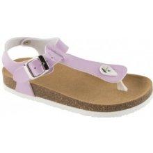 Scholl BOA VISTA KID dětské zdravotní pantofle s páskem fialové