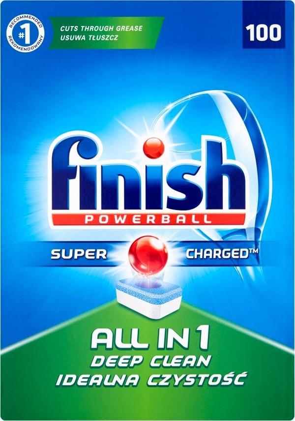 Calgonit Finish Powerball All in 1 lemon tablety do myčky 100 ks 1810g
