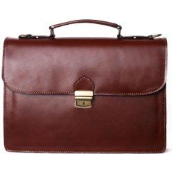 italské luxusní pánské kožené tašky na rameno Sebastian koniak 858e0576b55
