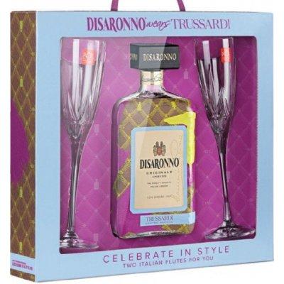 Amaretto Disaronno Originale Trussardi 2 sklenice 28 % 0,7 l