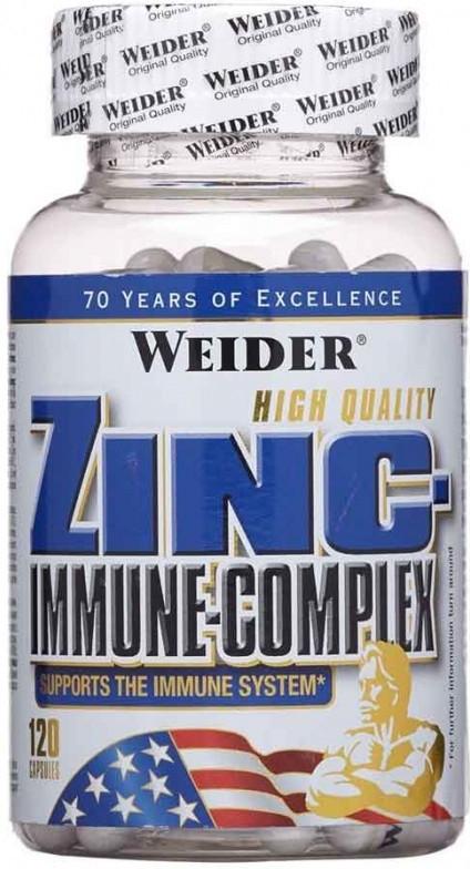 Výsledek obrázku pro Weider Zinc Immune Complex 120 kapslí