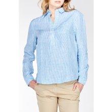 Gant dámská Košile STRIPED LINEN POPOVER SHIRT modrá