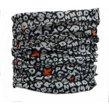 285 Twoeightfive multifunkční šátek na krk ABC černo-bílý 11cdd18cc8