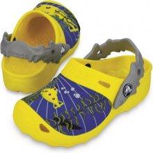 Crocs Chlapecké sandály Submarine Burst/Light grey