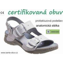 Santé D 5 10 Sandály zdravotní bílé e90ff1d43cf