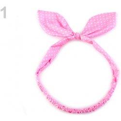 875b93ed63b Dětská látková čelenka do vlasů s mašlí růžová sv. 1ks alternativy ...