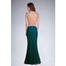 Soky Soka dámské šaty bez rukávů krajkové dlouhé zelená a0c5fa49a6
