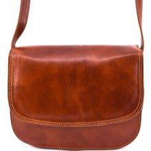 Arteddy dámská kožená kabelka crossbody lovecká koňak 38fc3903c4e