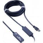 PremiumCord ku3rep10 USB 3.0 repeater a prodlužovací kabel A/M-A/F, 10m