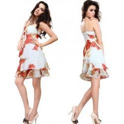 krátké letní společenské šaty s červenými květy pro svatební matky Bílé 9cc610aaac