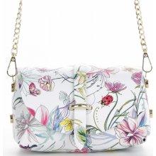 a1179e1660 Vittoria Gotti kožená kabelka listonoška květiny Multicolor Bílá Folk
