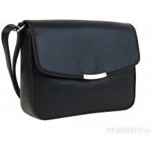 Podélná crossbody kabelka F007 černá