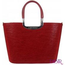 Grosso stylová dámská kabelka do ruky S7 Sytě červená 83616edd9cc