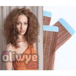 Vlasy pásky tapex tape in remy 50cm 20ks  08 hnědá od 1 200 Kč ... c12ad978878