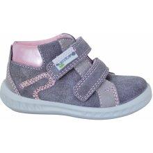 Protetika Dívčí kotníkové boty Adel - šedé 5cc6a8a9d2