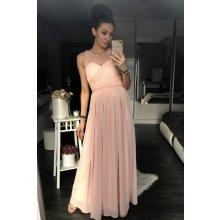 f0d9fb46e259 Eva   Lola dámské luxusní společenské šaty s korálky růžová