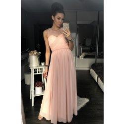 Eva   Lola dámské luxusní společenské šaty s korálky růžová od 1 899 ... 00d9bb8686
