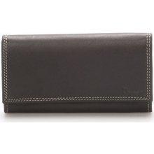 Delami Peněženky Dámská kožená peněženka černá Naal Černá
