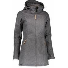 ALPINE PRO MAMIA LCTK057 Dámský softshellový kabát SVĚTLE ŠEDÁ