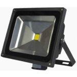 McLED LED reflektor Troll 50W, 4000K s čidlem černá