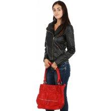 TopMode dámská koženková bunda křivák černá